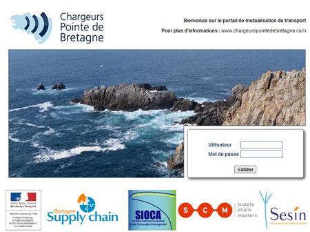 Mutualisation du transport : page d'accueil du portail