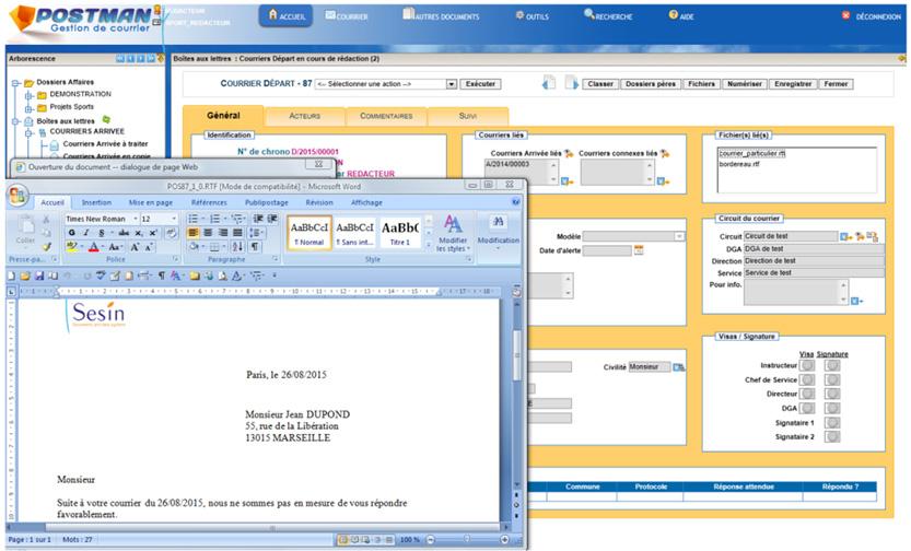 Logiciel gestion de courrier