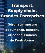 Solutions de gestion de documents et de contenu pour le transport, la supply chain et les grandes entreprises